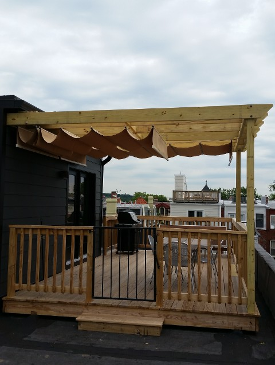 Wooden Deck & Canopy