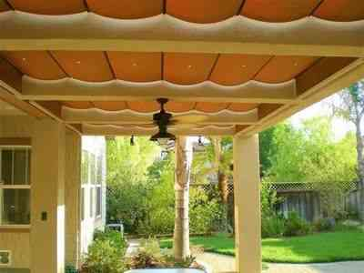 slide wire shades, using waterproof Sunbrella fabrics