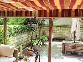 Striped pattern waterproof fabric awnings