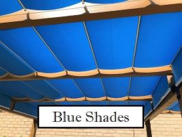 Blue Fabric Shades