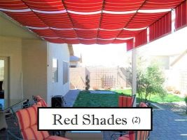 Red Fabric Shades