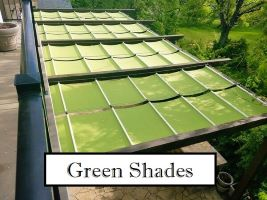 Green Fabric Shades