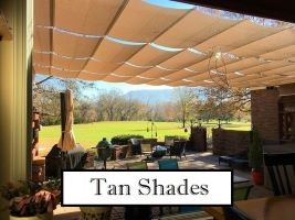 Tan Fabric Shades