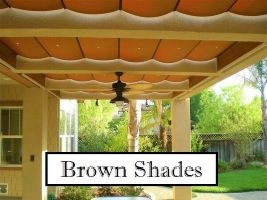 Brown Fabric Shades