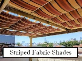 Striped Fabric Canopies