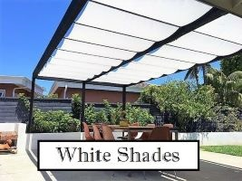 White Fabric Retractable Shades