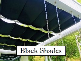 Black Fabric Shades