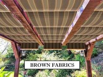Brown fabric retractable canopies