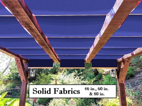 Solid fabric retractable shades