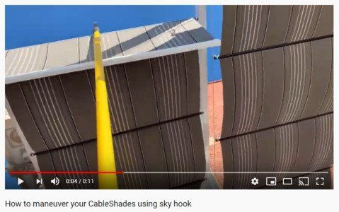 CableShades with skyhook