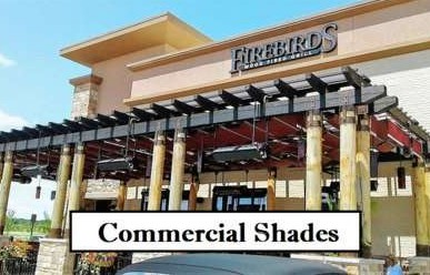 Firebirds Restaurant with retractable fabric shades