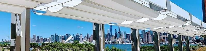 white retractable fabric canopies