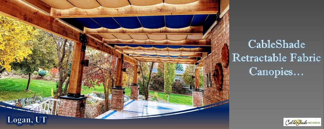 Retractable Patio Shade Cableshade, Retractable Canvas Patio Awnings